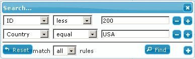 struts2 jquery grid with multiple search